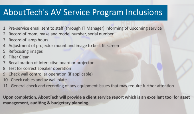 Service Program Inclusions