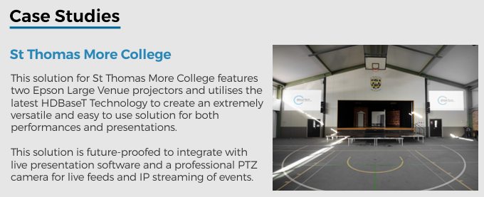 Large Venue - 03 - Case Study St Thomas More College